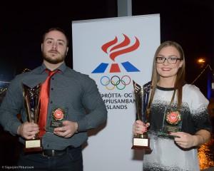 Viktor Samuelsson og Fanney Hauksdottir